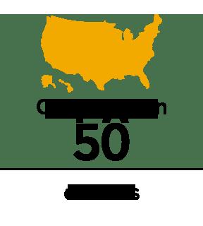 50 estados reciben los servicios de AF Group.